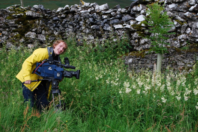 The camerman getting some lovely Meadowsweet shots