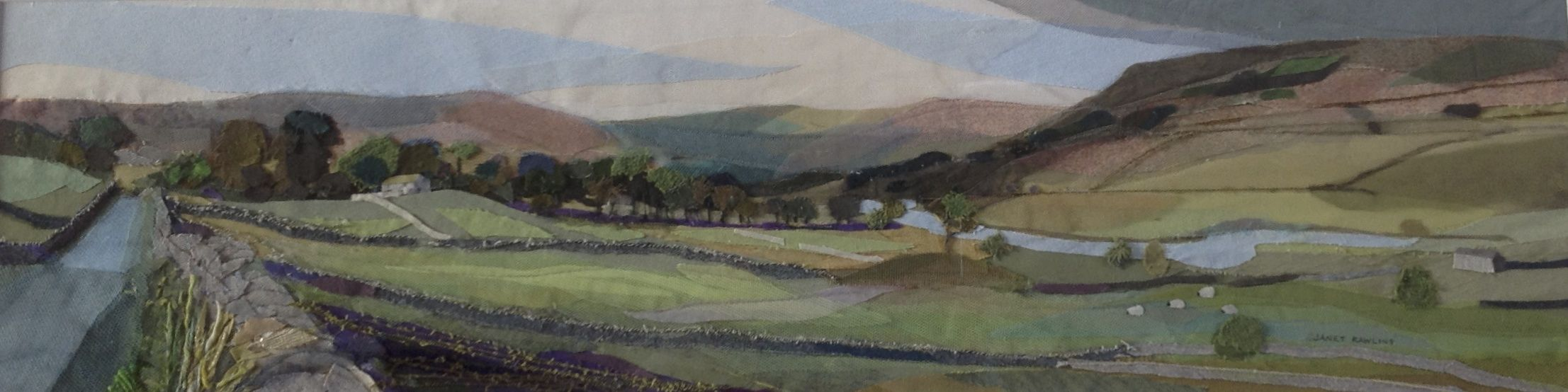Janet's collage entitled 'Towards Hawes'
