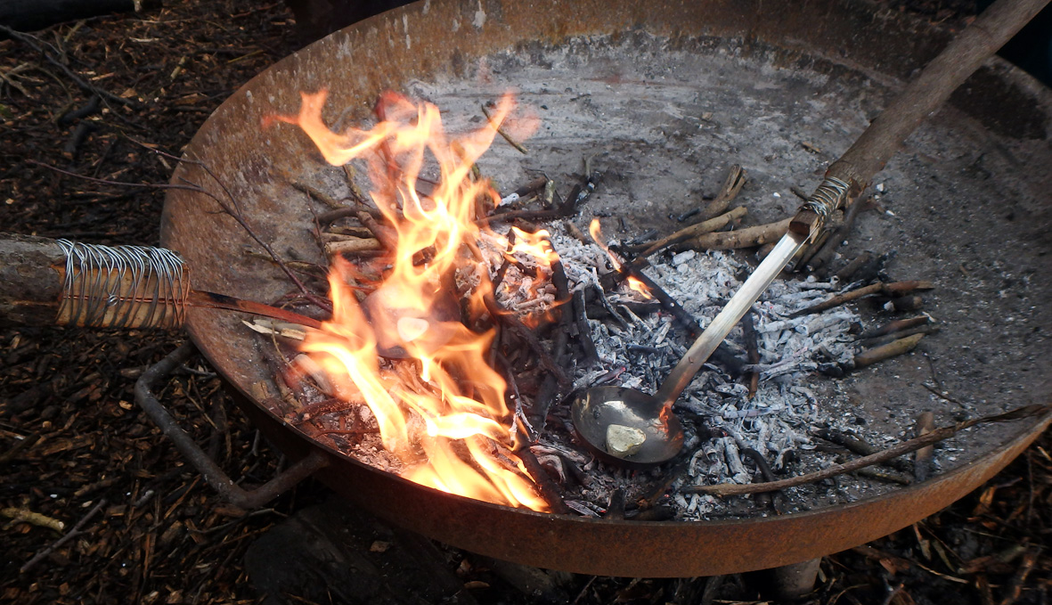 Green Guardians groups learn fire lighting and other bushcraft skills