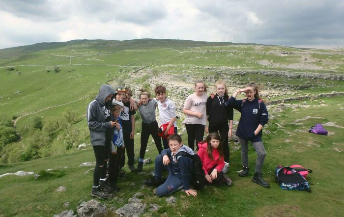 Young people at Malham Tarn