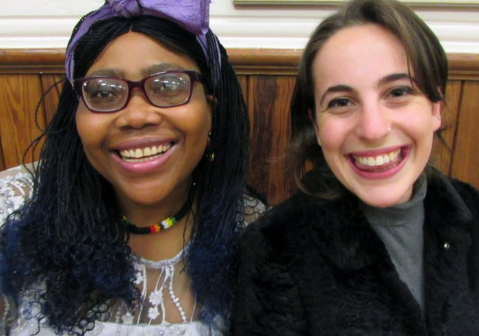 Rosie and Diako at the Interfaith womens retreat