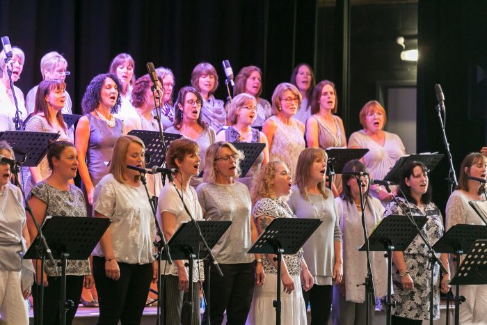 Dales Community Pop Choir performing their annual fundraising concert.