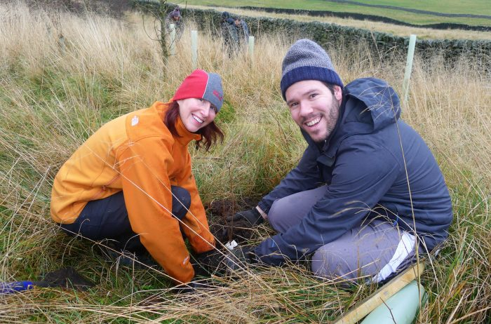 Staff from Betty's tree planting in Grassington