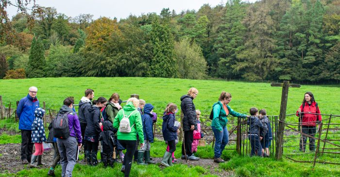 Children enjoy a Schools Out trip to hunt for the Clapham Boggart