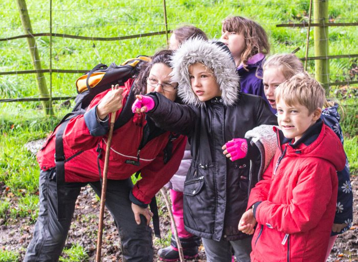 Children search for the Clapham Boggart on a Schools Out trip