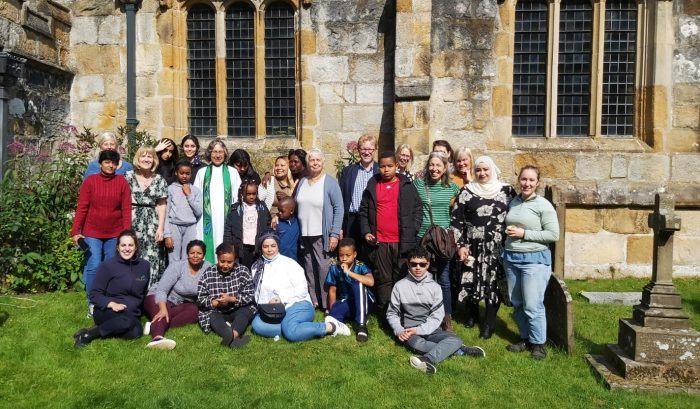Women and children from the Maternity Stream of the City of Sanctuary visit the Dales